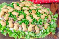 Салат с тунцом, огурцами и крекерами