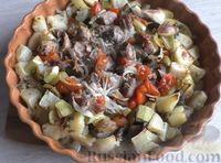 Запечённые овощи с мясом, в духовке