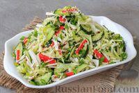 Салат из капусты с крабовыми палочками и огурцами
