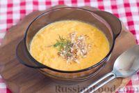 Морковный суп-пюре с имбирем и миндалем
