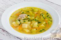 Куриный суп с кабачком и вермишелью