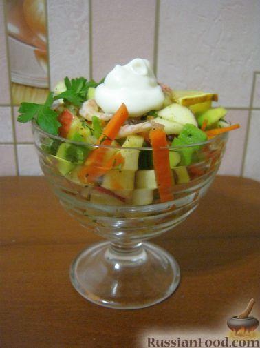 Салат-коктейль из авокадо