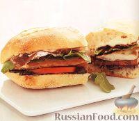 Сэндвичи с куриными отбивными и ветчиной