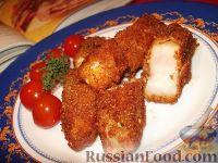 Рыбные палочки в папрично-сырной панировке