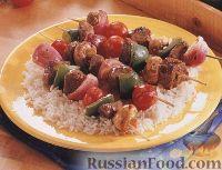 Шашлыки из мяса и овощей