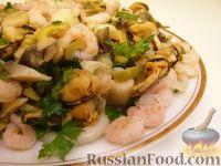 Салат ассорти из морепродуктов