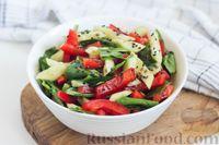 Овощной салат со шпинатом, кунжутом и семенами льна