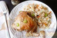 Курица, запечённая с рисом, в духовке