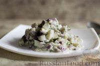 Салат из яиц с луком и укропом