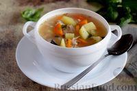 Суп из консервированной скумбрии с картофелем и рисом