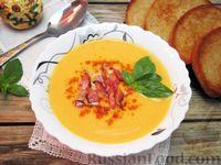 Картофельный суп-пюре с помидорами и сыром