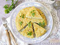 Фриттата с макаронами и сыром, на сковороде