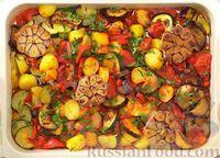 Овощи, запечённые в томатном соусе