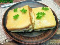 """Сэндвич в сырной """"шубке"""", с ветчиной (на сковороде)"""
