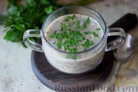 Сливочный суп из шампиньонов
