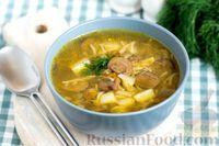 Грибной суп с картофелем  и вермишелью