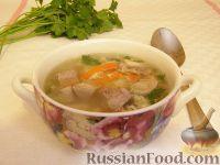 Суп гречневый со свиным языком