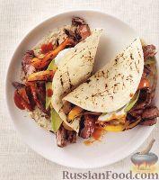 Закуска из мяса и овощей, приготовленных на гриле