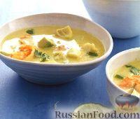 Суп из креветок и рыбы