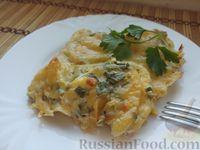 Патиссоны, запеченные с сыром и сметаной
