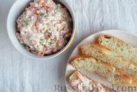 Овощной салат-намазка с творогом и сметаной