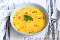 Суп с цветной капустой, нутом и помидорами, на сыворотке