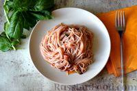 Спагетти с баклажанами в томатном соусе