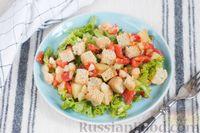 Салат с картофелем, помидорами и цветной капустой