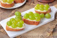 Бутерброды с сыром фета и виноградом