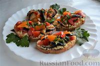 Бутерброды с баклажанами, помидорами и плавленым сыром