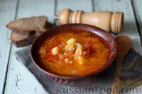 Томатный суп с жареной капустой и фаршем
