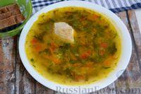 Куриный суп со щавелем, картофелем и рисом