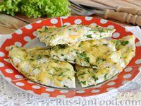 Яичница в лаваше, с сыром и зеленью