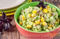 Салат из цветной капусты с кукурузой и красным луком