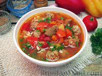 Мастава (узбекский суп) с фрикадельками