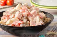 Салат с вешенками, ветчиной и сыром фета