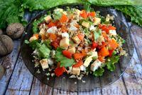 Салат с курицей, тыквой и орехами