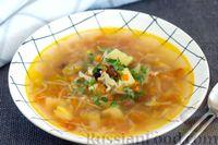 Фасолевый суп с капустой и помидорами