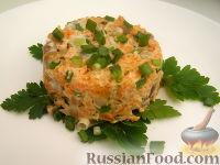 Салат из моркови и маринованных  грибов