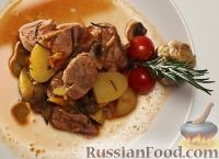 Овощное рагу со свининой (в мультиварке)