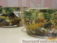 Салат «Анастасия» с морковью, грибами и орехами