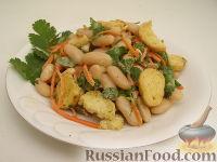 Быстрый салат с фасолью и кинзой