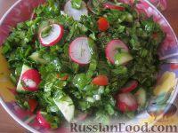 Овощной весенний салат к шашлыку
