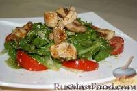 Салат с куриным филе и спаржей