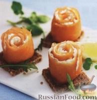 Копченая семга со сливочным сыром