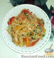 Салат из фунчозы с мясом