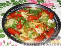Картофельное рагу с колбасой