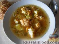 Суп с цветной капустой (брокколи) и вермишелью