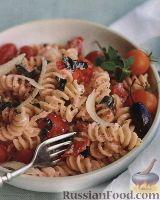 Макароны с помидорами и рикоттой