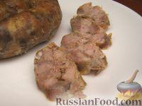 Жареная домашняя колбаса